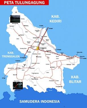 Peta Kabupaten Tulungagung